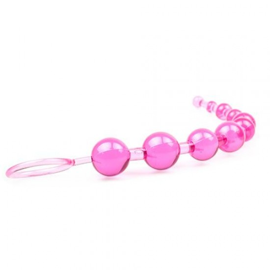 Pink Chain Of 10 Anal Beads