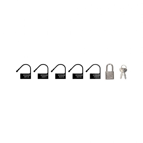 Man Cage Black Spare Locks x5